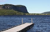 picture of moosehead  - Dock on waterfront of lake in Maine Moosehead Lake Mt - JPG