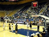 Cal Player Takes Free Throw Shot