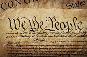 stock photo of the united states america  - The Constitution for the United States of America - JPG