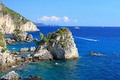 Piso Krioneri beach in Parga Northern Greece