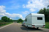 pic of caravan  - Caravan Country Highway in France - JPG
