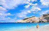 Porto Katsiki beach on the Ionian island of Lefkas Greece