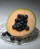 Cantaloupe And Blueberries