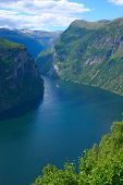 Panoramic View Geiranger Fjord - Vertical