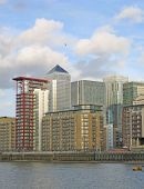 Canary Wharf  With Office Buildings And Apartments