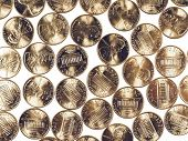 Постер, плакат: Vintage Dollar Coins 1 Cent Wheat Penny Cent