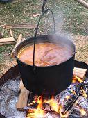 maple sap burning off liquid over