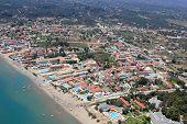Aerial view on Zakynthos island Greece - Laganas
