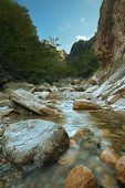 picture of seoraksan  - A beautiful scenic landscape of a slow trickling stream 