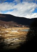 Dried Mavrovo Lake In Macedonia