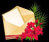 Einladung zur Hochzeit mit Blumen
