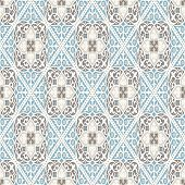 Vintage Wallpaper. Modern Geometric Pattern, Inspired By Old Wallpapers. Nice Retro Colors - Grey Be poster