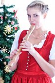 Young woman with flute