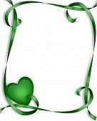 Green Ribbons And Heart Frame