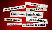 Customer Satisfaction Quality Service Satisfied Headlines 3d Render Illustration poster