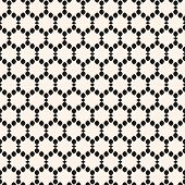 Vector Seamless Pattern. Abstract Graphic Monochrome Background With Small Rounded Shapes In Smooth  poster