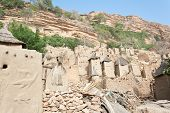 pic of dogon  - The principal Dogon area is bisected by the Bandiagara Escarpment. The Dogon are best known for their mythology their mask dances wooden sculpture and their architecture. - JPG