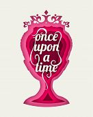 Vintage Queen Silhouette. Medieval Queen Front View. Elegant Silhouette Of A Female Head. Once Upon  poster