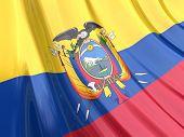 Glossy Flag Of Ecuador