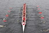University Of Wisconsin races in the Head of Charles Regatta