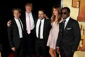 NEW YORK - OCTOBER 24: Brian Grazer, Donald Trump, Brett Ratner, Melania Trump and Sean Combs (Diddy