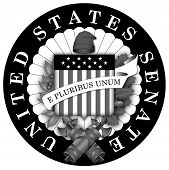 Seal of the US Senate Black and White