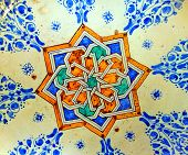 Morocco Marrakech: Ceramic Decoration On A Wall