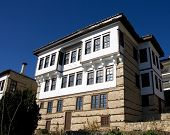 stone traditional house in kastoria city