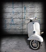 Old Vespa scooter