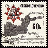 Ancient Pistol On Post Stamp