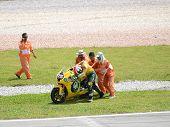 250cc rider in action at Sepang MotoGP