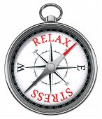 Entspannen-Stress-Konzept-Kompass