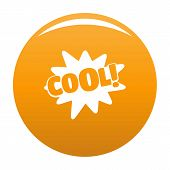 Comic Boom Cool Icon. Simple Illustration Of Comic Boom Cool Vector Icon For Any Design Orange poster
