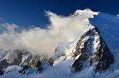 Mont Blanc du Tacul in Alpen, Frankreich