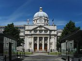 The Dail Parliament Building In Dublin Ireland