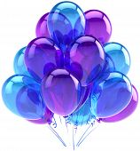 Balloons party birthday blue purple translucent