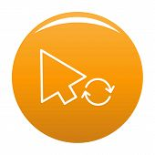 Arrow Cursor Loading Icon. Simple Illustration Of Arrow Cursor Loading Vector Icon For Any Design Or poster