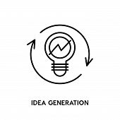 Idea Generation Vector Icon On White Background. Idea Generation Modern Icon For Graphic And Web Des poster