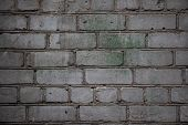 Red White Wall Background. Old Grungy Brick Wall Horizontal Texture. Brickwall Backdrop. Stonewall W poster