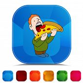 An image of a pizza eater gemstone button set.