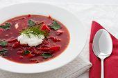 Ukrainian national borscht