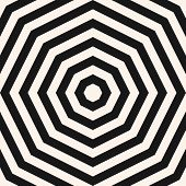Vector Monochrome Geometric Pattern With Concentric Shapes, Stripes, Lines poster