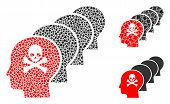 Kill All Humans Icon Composition Of Ragged Items In Various Sizes And Color Tints, Based On Kill All poster