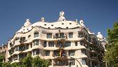 BARCELONA, SPAIN - JULY 20: Casa Mila or La Pedrera on July 20, 2011 in Barcelona, Spain. This build