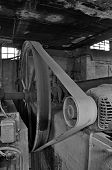 Belt Driven Machinery In Abandoned Factory