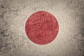 Grunge Japan Flag. Japan Flag With Grunge Texture. poster