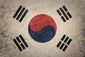 Grunge South Korea Flag. South Korea Flag With Grunge Texture. poster