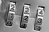 Zahlenschloss Zifferblätter