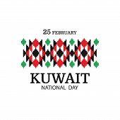 Vector Illustration On The Theme National Day Kuwait. National Pattern. poster