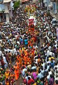 Devotees And Crowd During Rathyatra